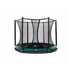 Батут с защитной сеткой BERG InGround Champion  270 + Safety Net Comfort Green