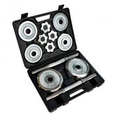 Домашний гантельный набор FitLogic Home Dumbbell Chrome Set Box 20kg