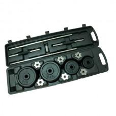 Набор 2 гантели и штанга (кейс, 50 кг) Fitlogic (BDB-50)
