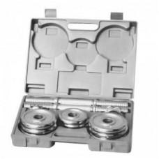 Гантели в наборе хромированные 15 кг HouseFit (DB 301)
